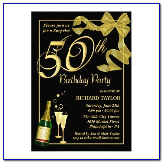 Surprise 50th Birthday Invitation Templates Free