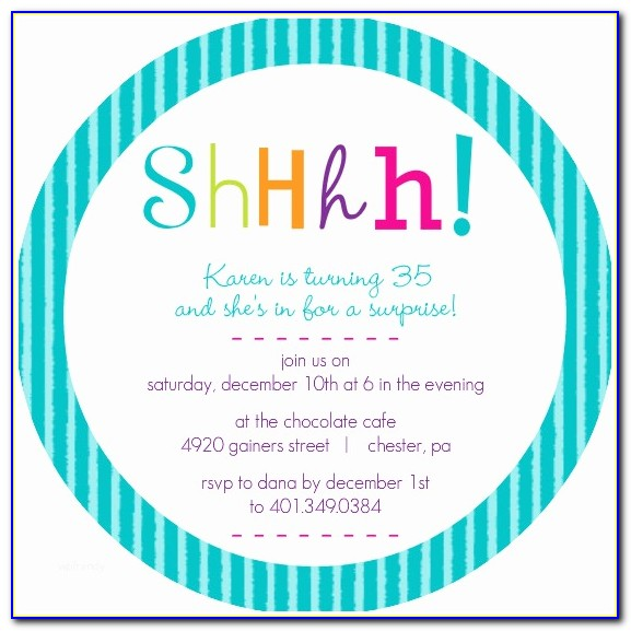 Surprise Birthday Invitation Templates Free Download Prettier Free Surprise Birthday Party Invitations Lijicinu