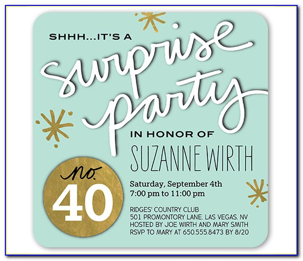 Surprise Birthday Invitation Templates Free