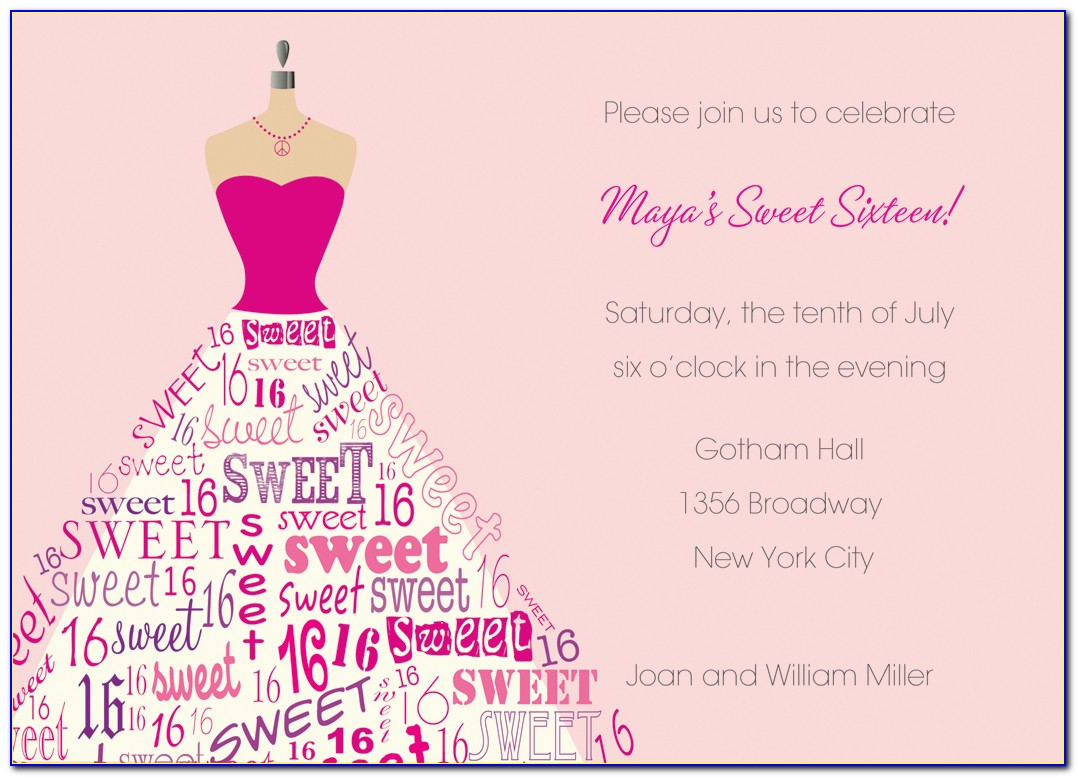Sweet 16 Birthday Invitation Maker