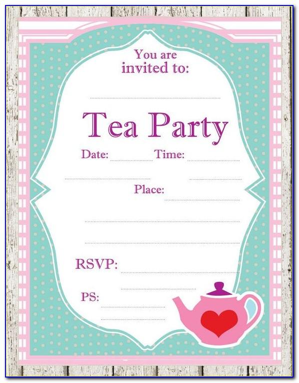 Tea Party Invitation Format
