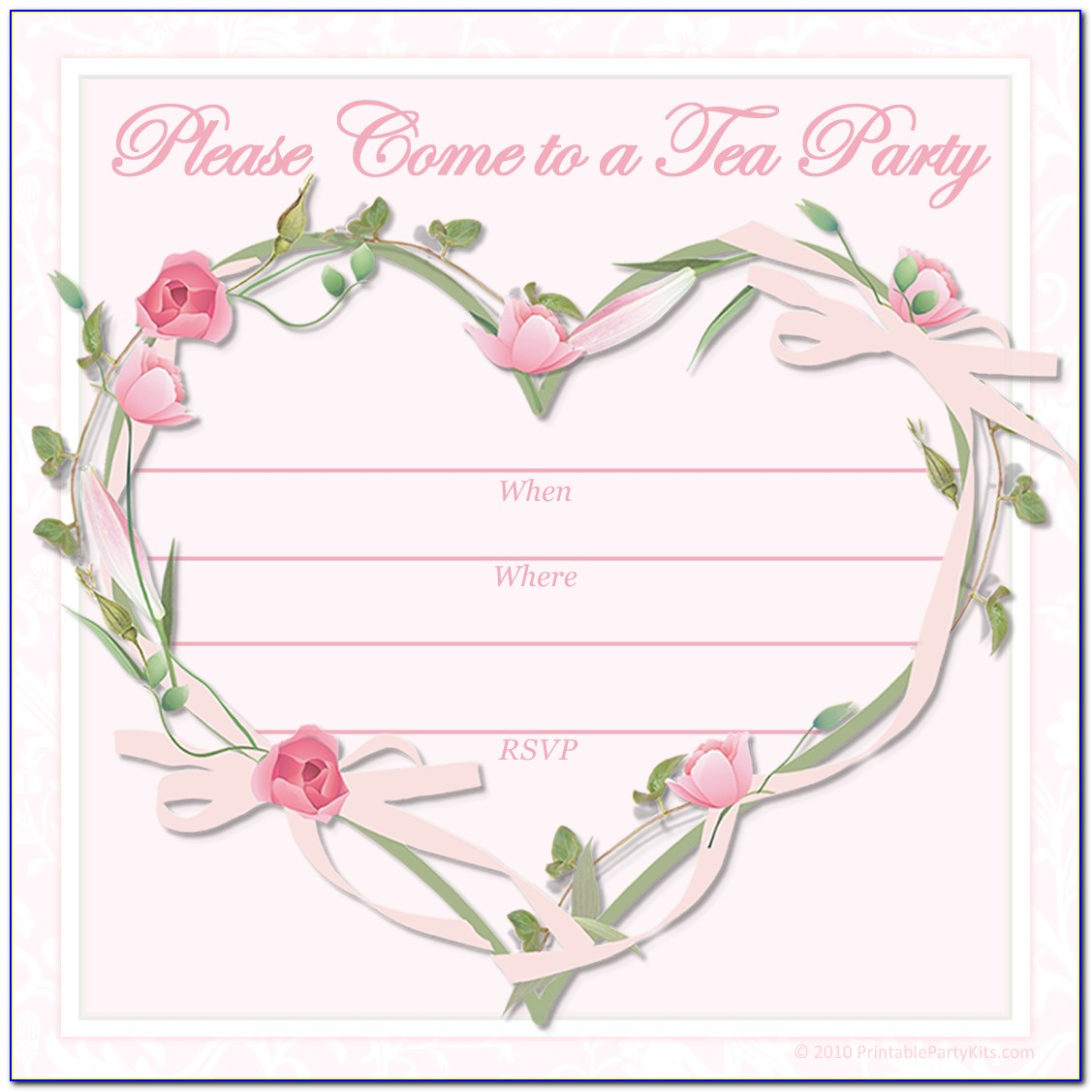 Tea Party Invitation Template Free