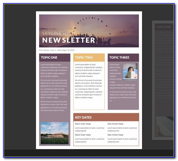 Template For Newsletter In Word