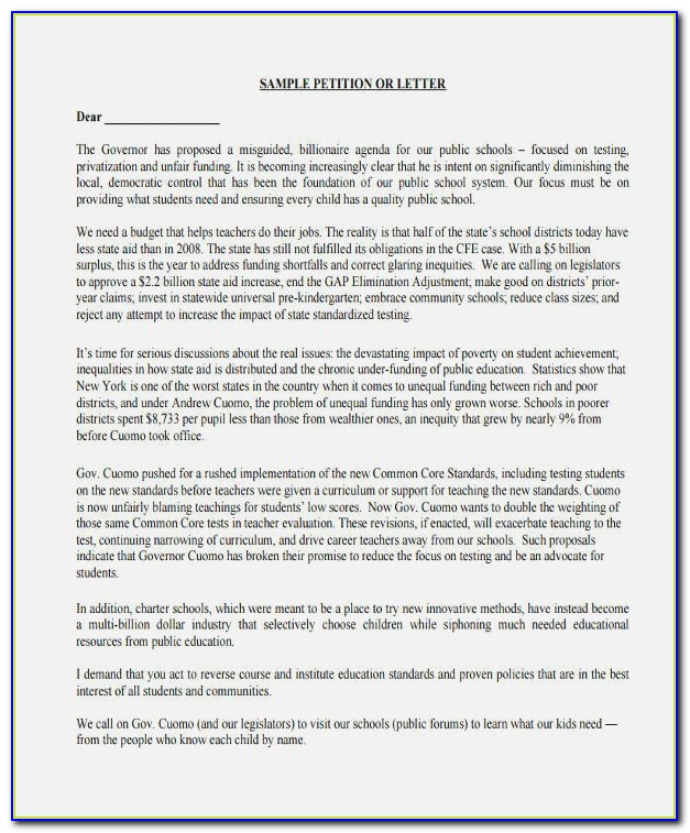 8 Munity Petition Free Sample Example Format Download