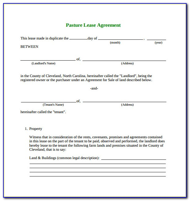 Texas Grazing Lease Agreement Form
