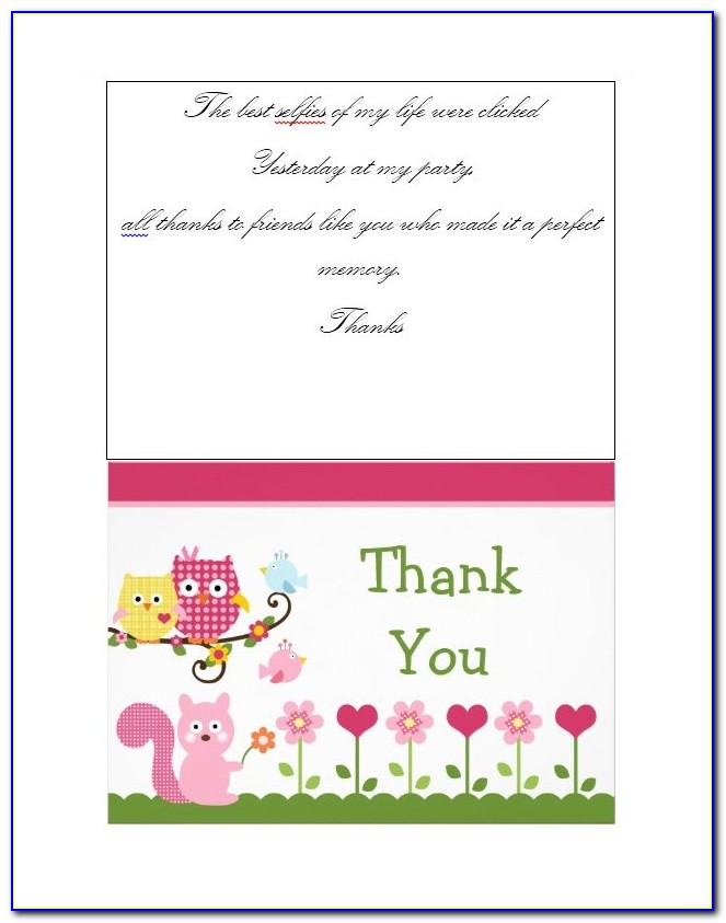 Thank You Card Template Free Download