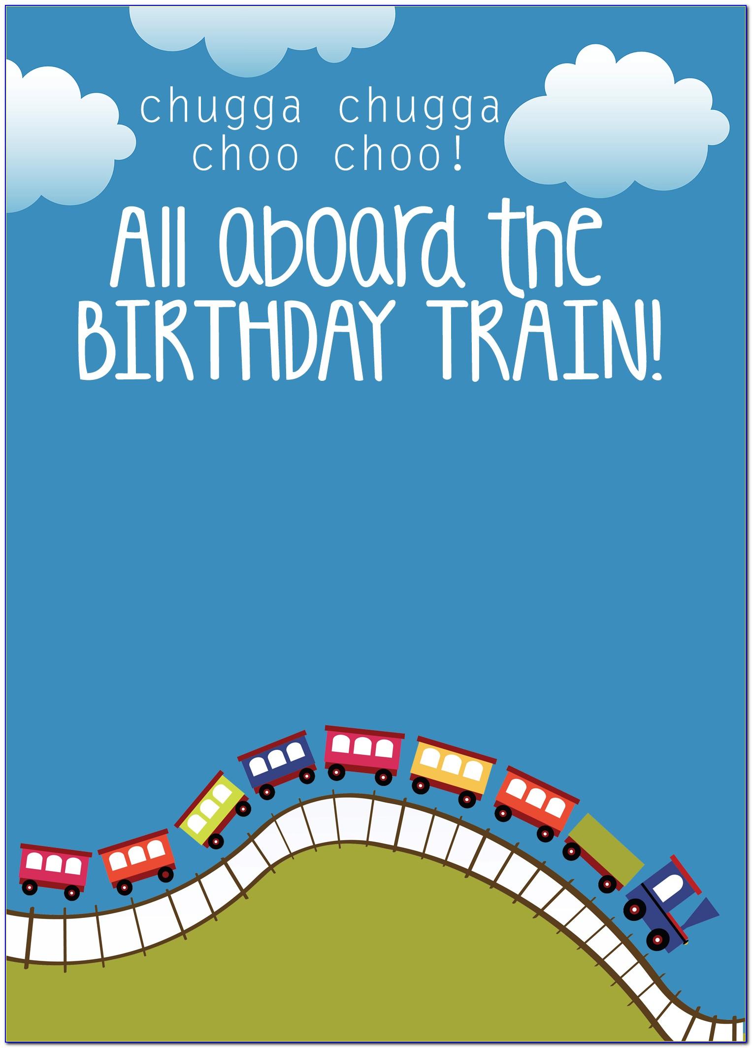 Thomas The Train Birthday Invitation Free Template