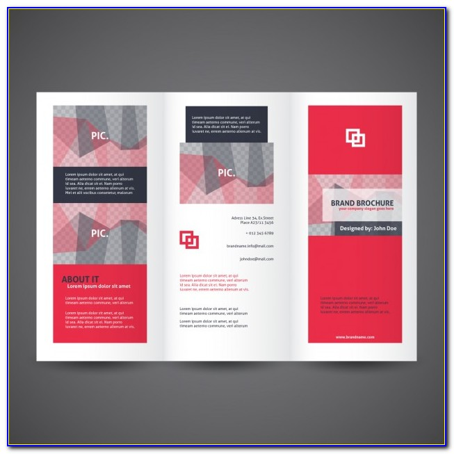 Three Fold Brochure Template Psd Free