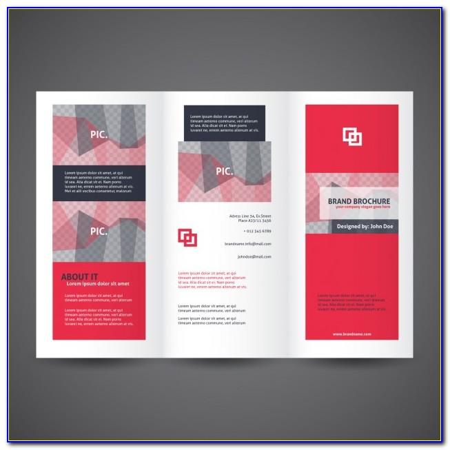 Three Fold Brochure Template Psd Free