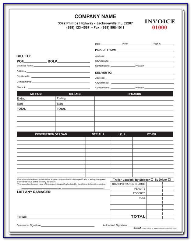 Towing Company Receipt Template