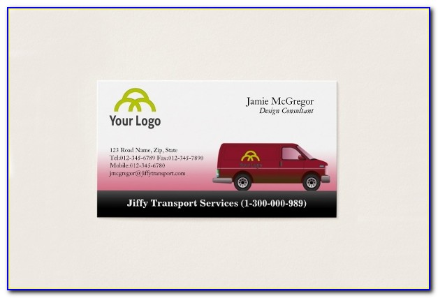Transport Business Cards Templates Free Download