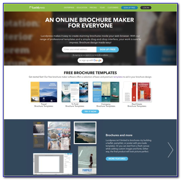 Tri Fold Brochure Template Maker