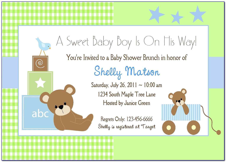 Twin Boy Baby Shower Invitation Templates