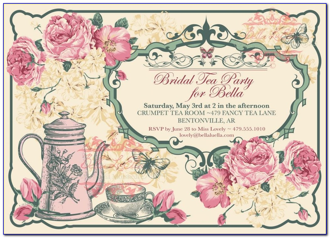 Vintage Party Invitation Card Template Free Download