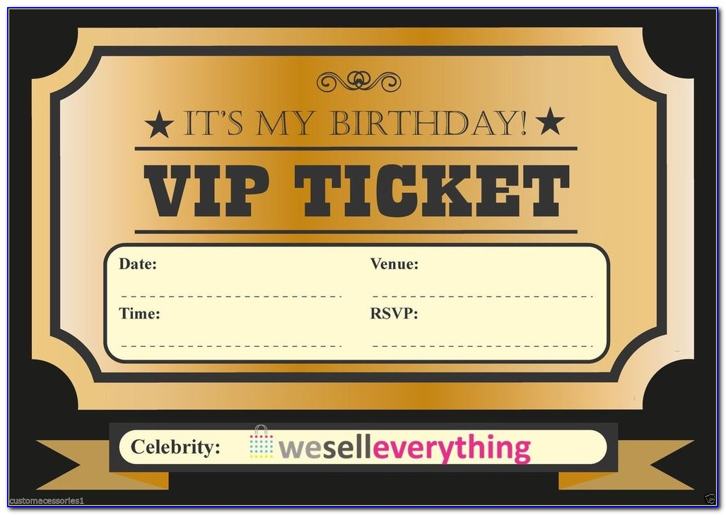 Vip Pass Wedding Invitations Templates