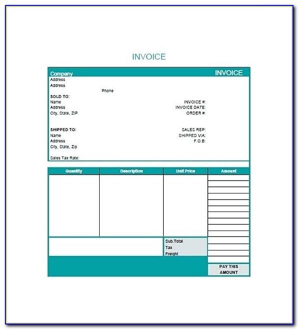 Web Design Invoice Template Doc