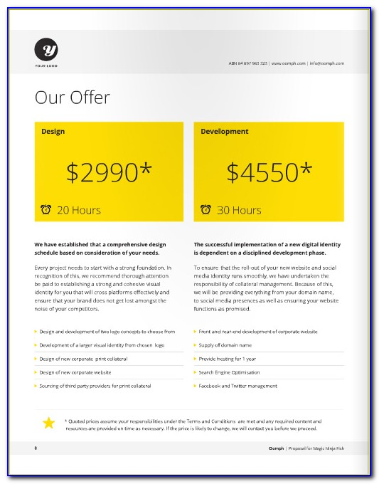 Web Design Proposal Example