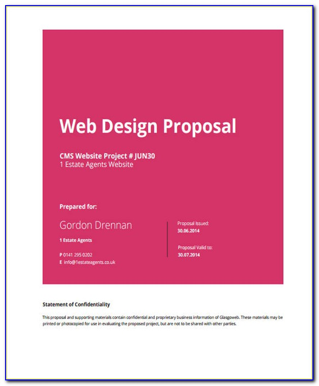 Web Design Proposal Template Doc