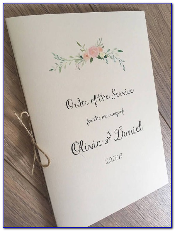 Wedding Booklet Cover Templates Free