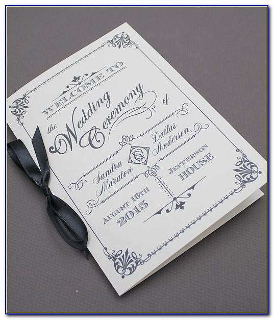 Wedding Booklet Templates