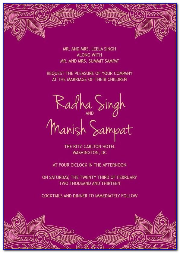 Wedding Card Invitation Template In Coreldraw