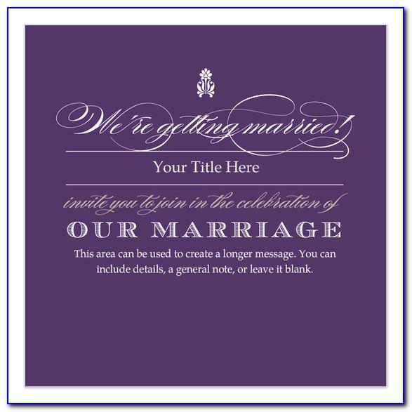 Wedding Card Invitation Template Online