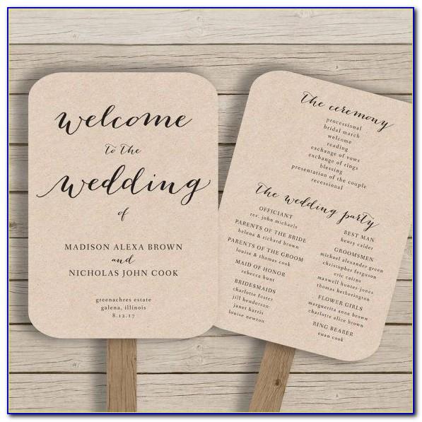 Wedding Fan Programs Templates