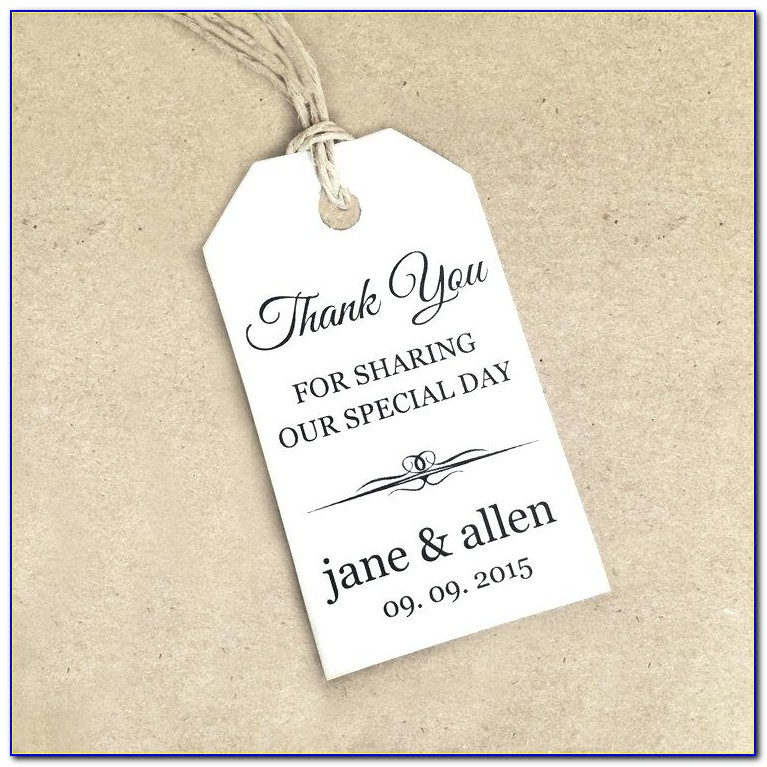 Wedding Favor Tags Template Free