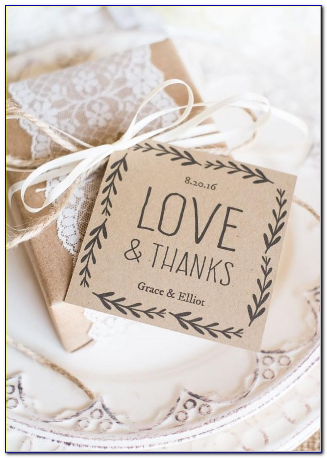 Wedding Favors Tags Template