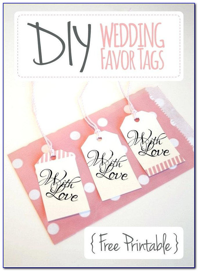 Wedding Favour Tags Template Free