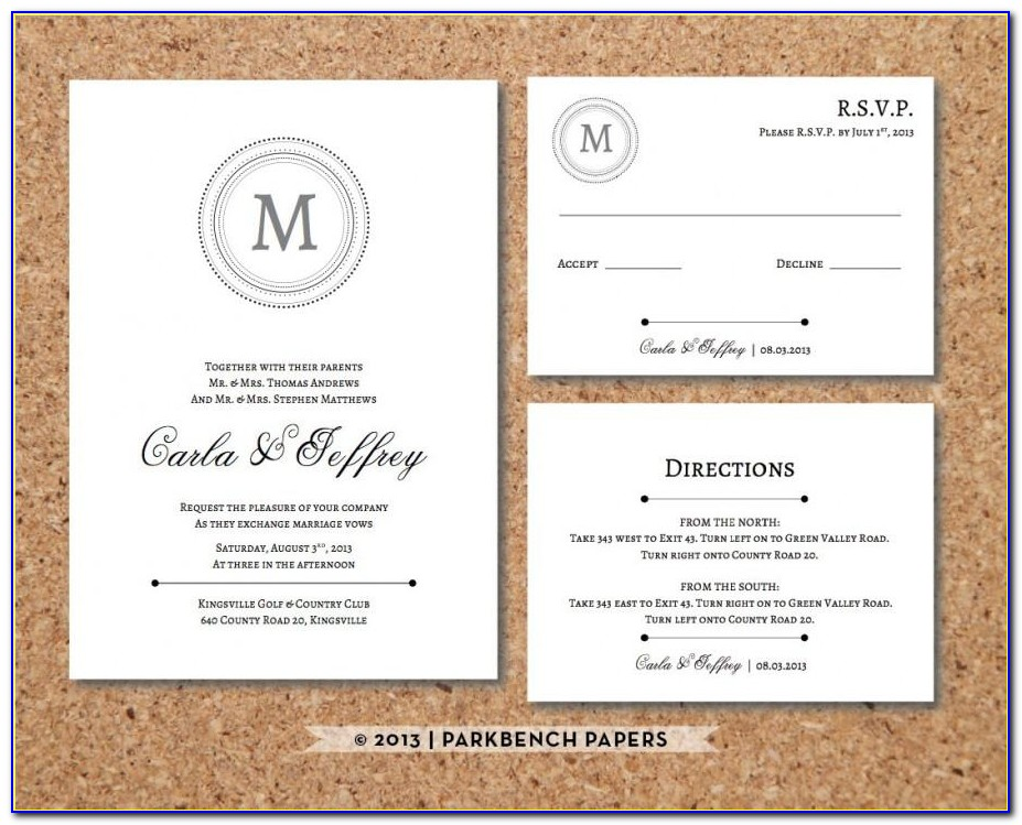 Wedding Invitation Accommodation Insert Template