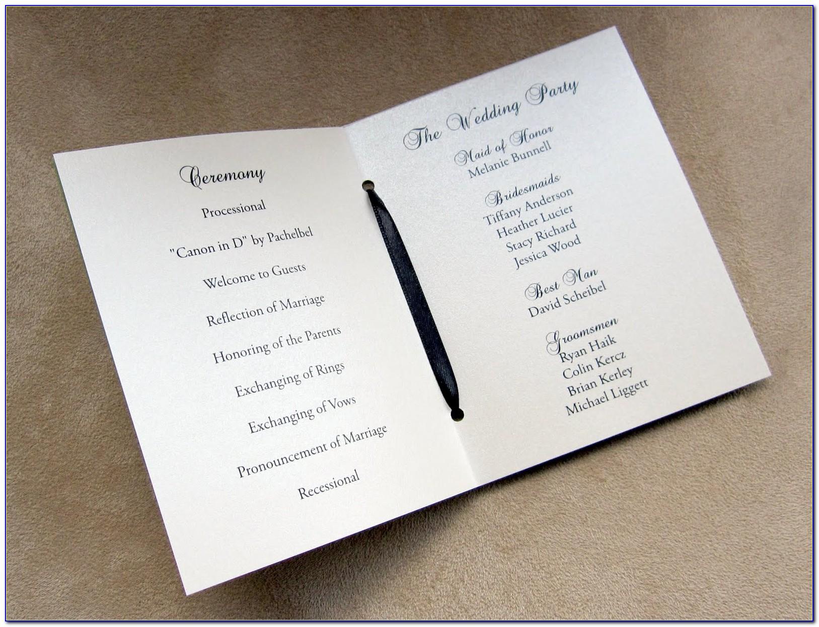 Wedding Invitation Booklet Templates