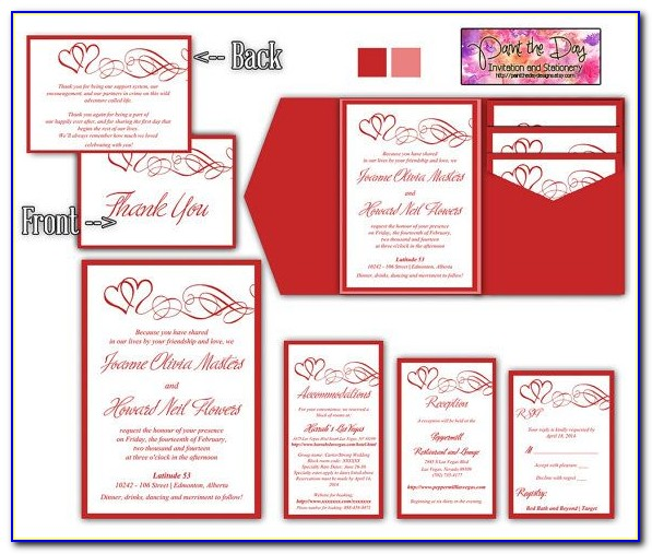 Wedding Invitation Information Insert Template