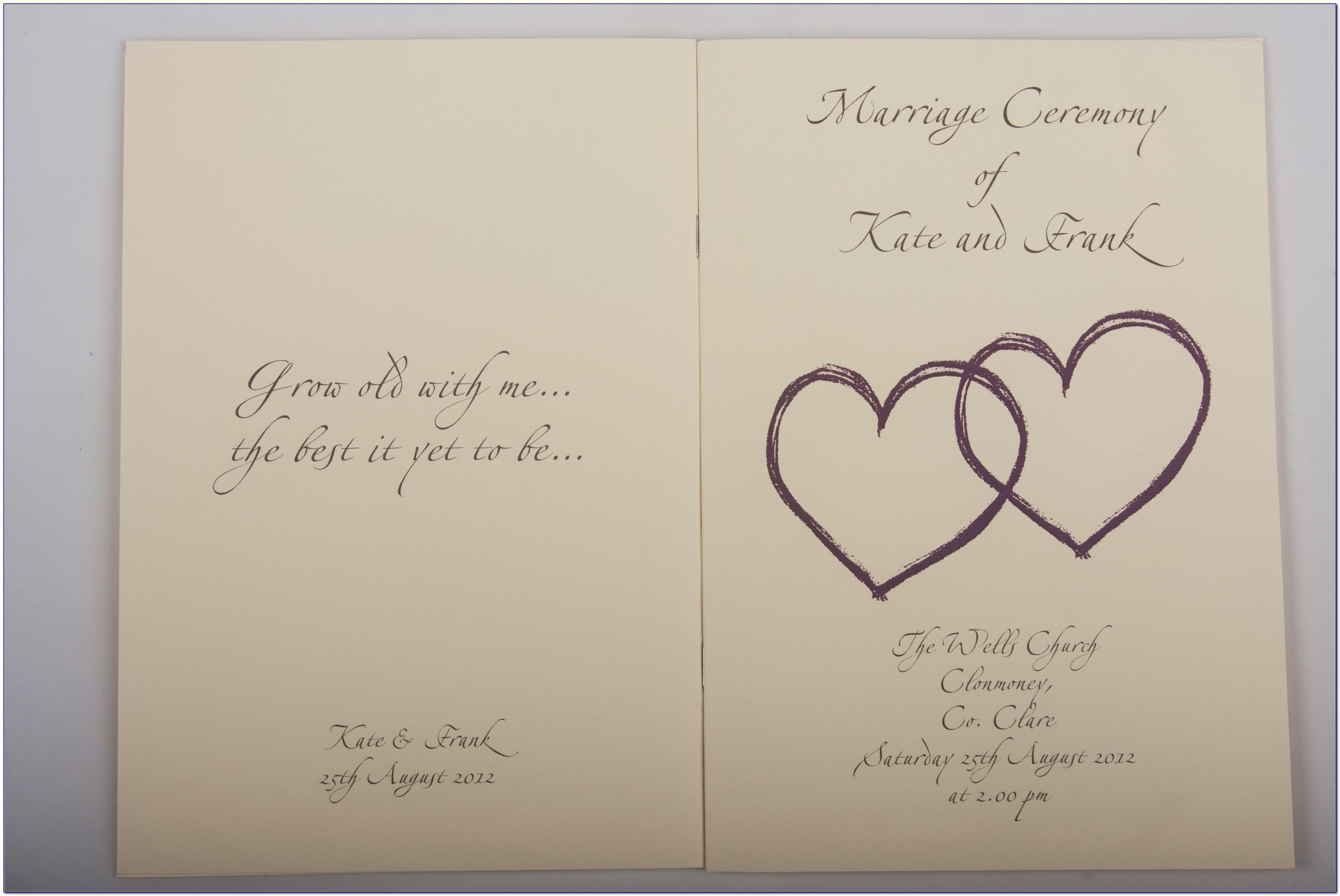 Wedding Mass Booklet Templates
