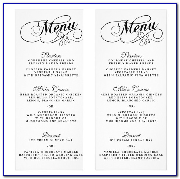 25+ Wedding Menu Templates – Free Sample, Example Format Download For Wedding Menu Template