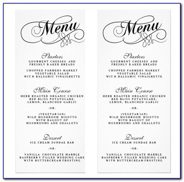 25+ Wedding Menu Templates – Free Sample, Example Format Download For Wedding Menu Template