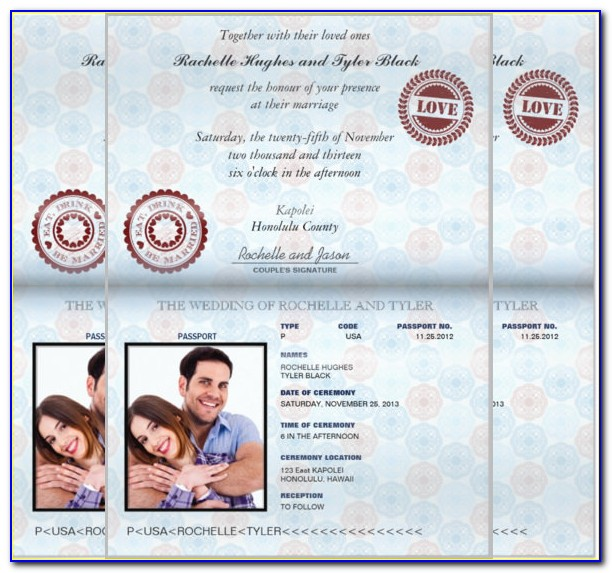 Wedding Passport Invitation Template Free Download
