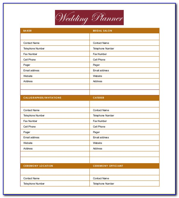 Wedding Planner Business Plan Template Pdf