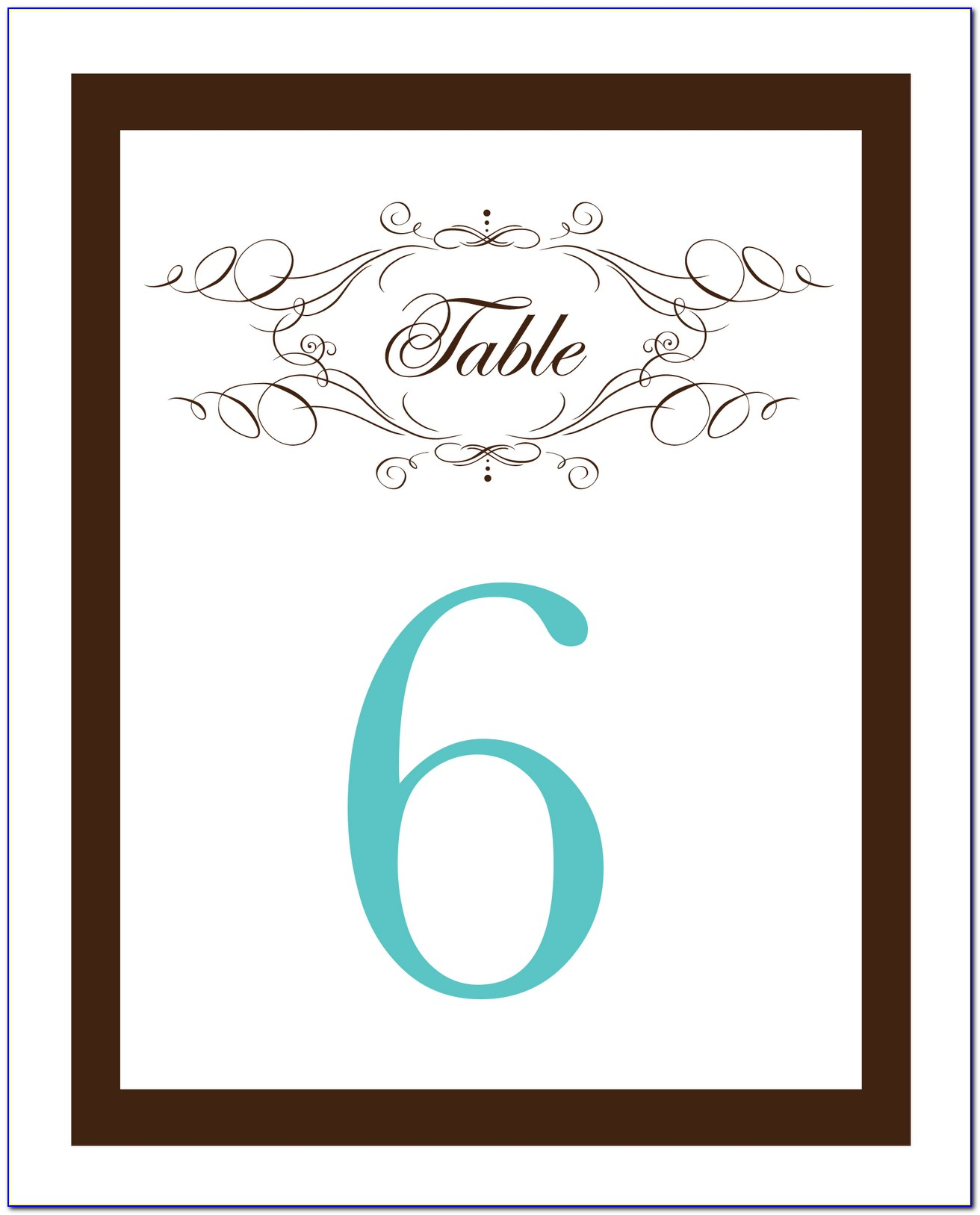Wedding Table Numbers Template Free Download