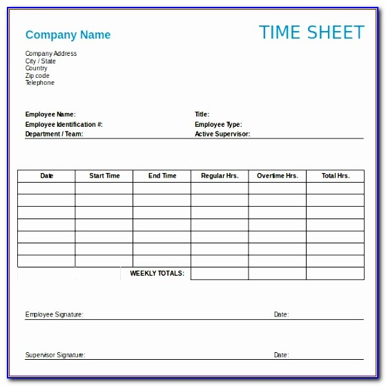 Weekly Timesheet Template Excel Free Download Idxdh Fresh 12 Weekly Timesheet Templates ? Free Sample Example Format
