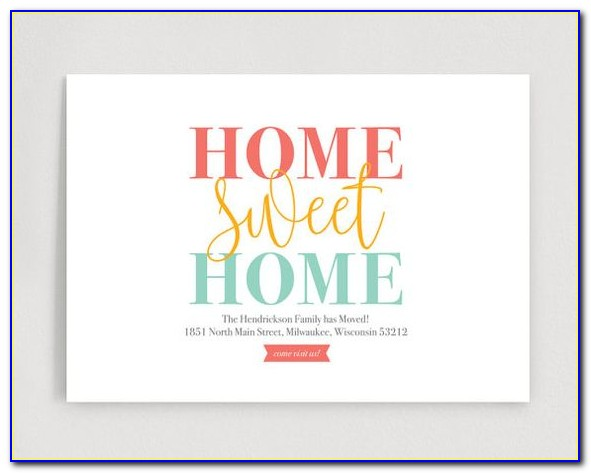 We've Moved Postcards Templates Free