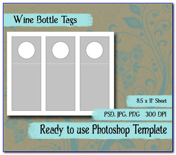 Wine Bottle Neck Tags Template