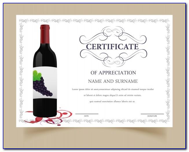 Wine Gift Certificate Template
