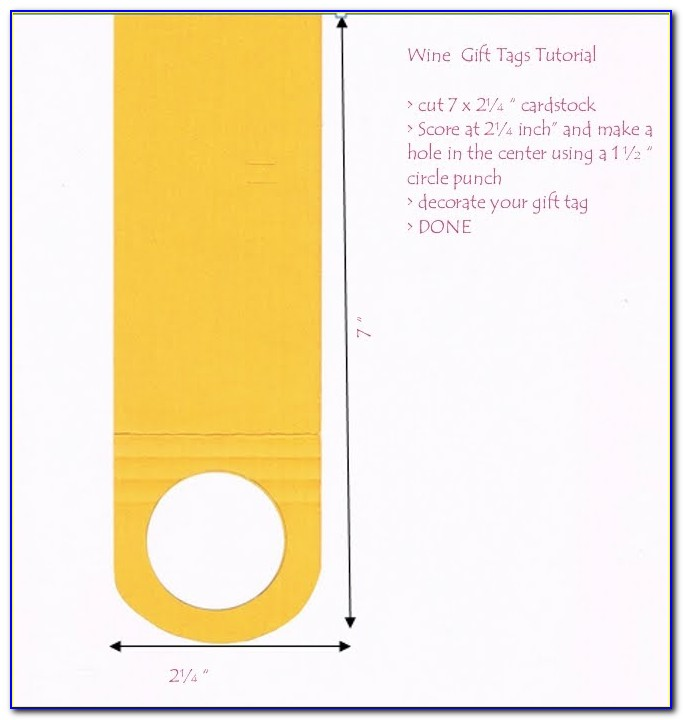 Wine Tag Template Download