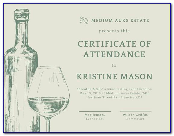 Wine Tasting Gift Certificate Template