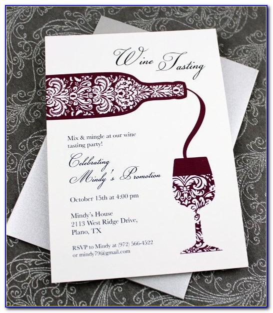 Wine Tasting Invitation Template Free
