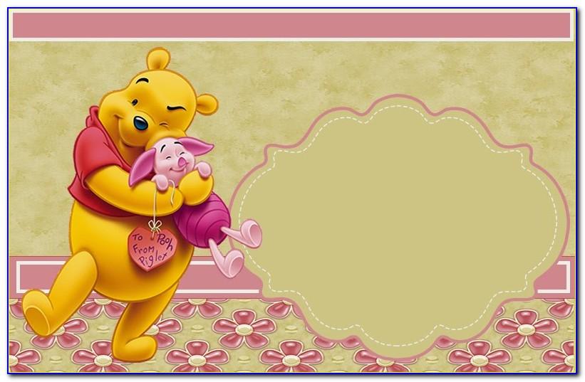 Winnie The Pooh Birthday Invitation Template