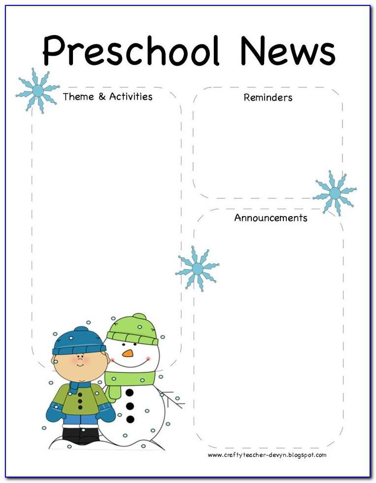 Winter Classroom Newsletter Template
