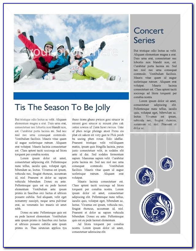 Winter Newsletter Template Word