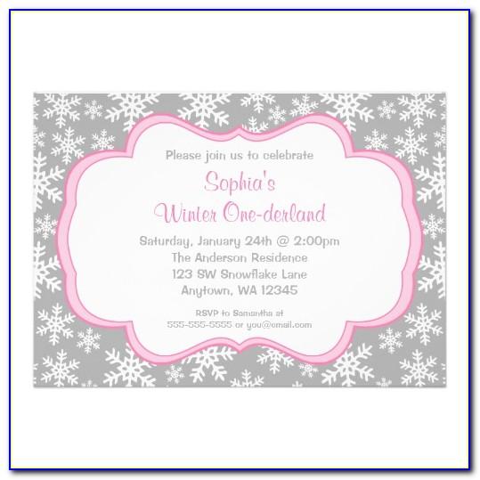 Winter Onederland Invitation Template Free
